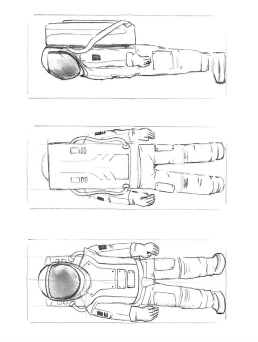 astronaut carving pattern