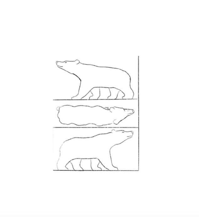 bear carving pattern