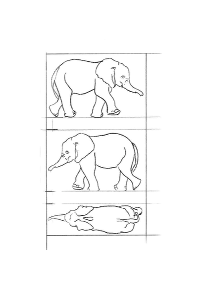 elephant wood carving pattern