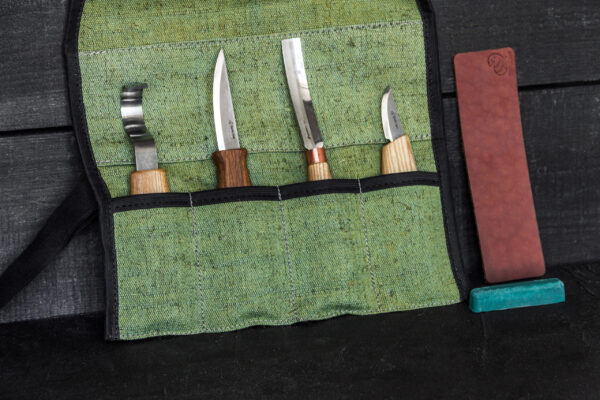 S43 – Spoon and Kuksa Carving Professional Set with Knives and Strop BeaverCraft - 5
