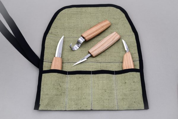 S09L – Set of 4 Knives in Tool Roll (Left handed) - 3