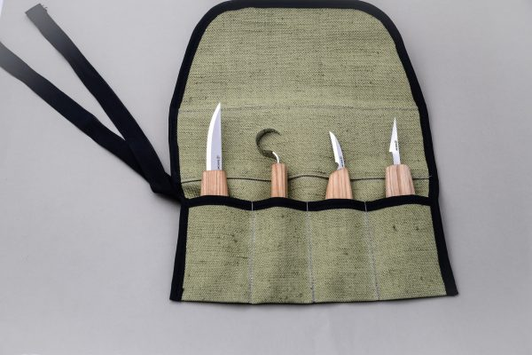 S09L – Set of 4 Knives in Tool Roll (Left handed) - 4