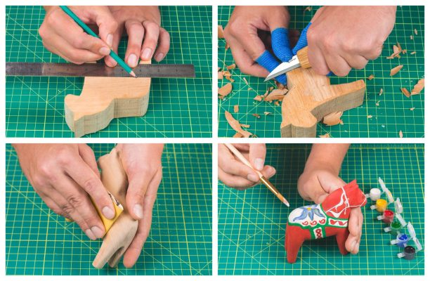 DIY02 – Dala Horse Carving Kit – Complete Starter Whittling Kit for Beginners Adults Teens and Kids - 8