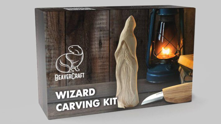 DIY03 – Wizard Carving Kit – Complete Starter Whittling Kit for Beginners Adults Teens and Kids