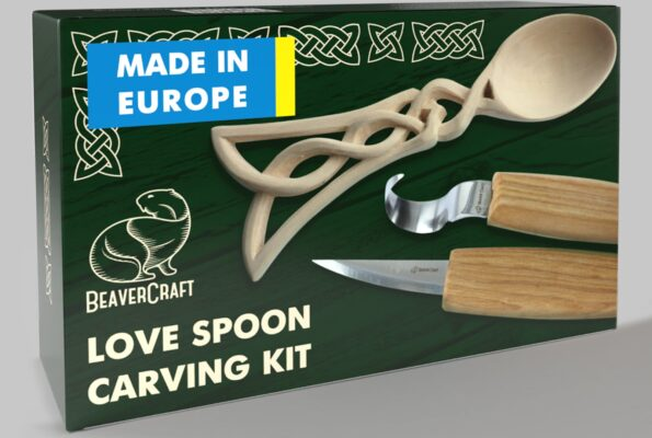 DIY04 – Celtic Spoon Carving Kit – Complete Starter Whittling Kit for Beginners Adults Teens and Kids