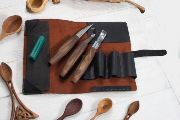 S14X – Premium Spoon Carving Set With Walnut Handles - 3