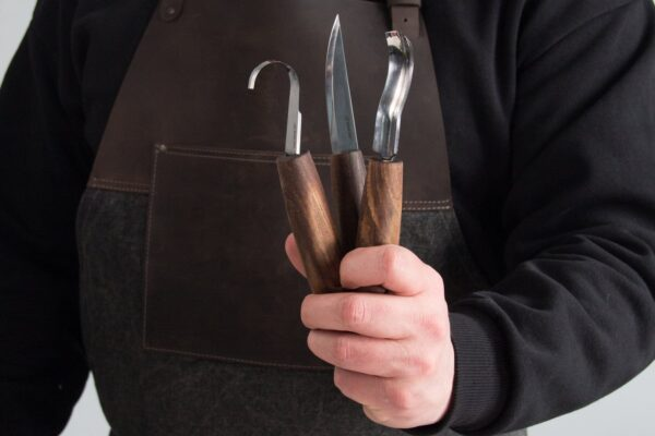 S14X – Premium Spoon Carving Set With Walnut Handles - 7