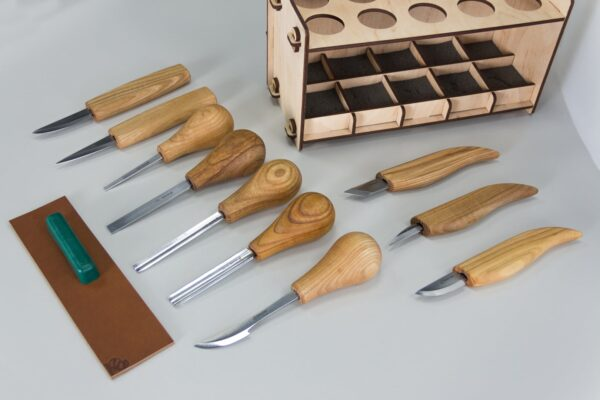 S52 – Woodcarving Set of 10 Knives - 3