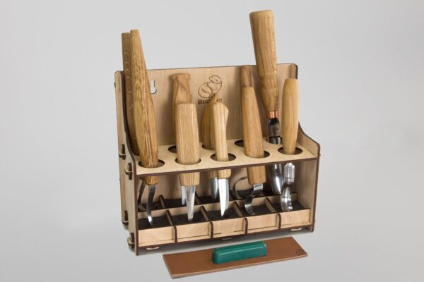 S53L – Universal Woodcarving Set of 10 Tools (left-handed) - 2