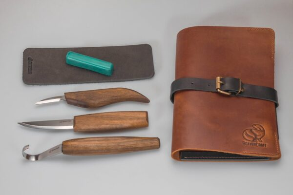 S13X – Deluxe Spoon Carving Set With Walnut Handles
