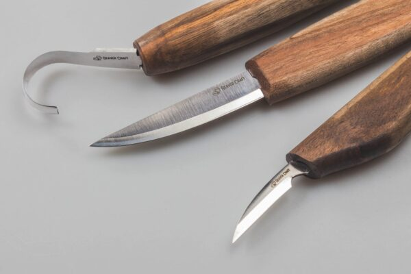 S13X – Deluxe Spoon Carving Set With Walnut Handles - 5
