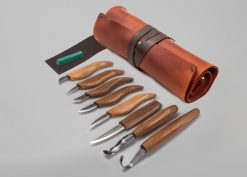 S18X – Deluxe Wood Carving Set With Walnut Handles - thumbnail