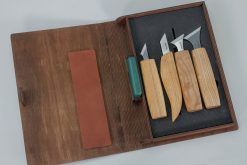S05 book – Geometric Wood Carving Knives Set in a Book Case - thumbnail