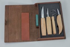 S09 book – Set of 4 Knives in Tool Roll in a Book Case - thumbnail