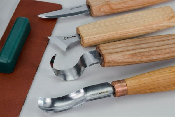 S19 book – Spoon Carving Set of 4 Tools in a Book Case - 5